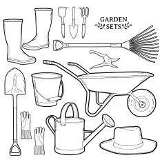 Kert Fun Arts And Crafts, Crafts For Kids, Garden Crafts, Garden Tools, Sunflower Template, Bird Theme, Spring Theme, Garden Seeds, Miniature Fairy Gardens
