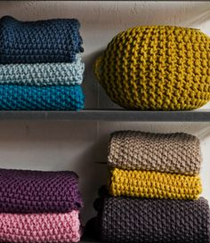 knitted throws from Serendipity: http://www.serendipity.fr/