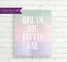 Dreamy art print perfect for babies nursery!
