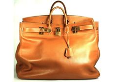 Hermès Vintage Gold Ardennes Leather 55cm Birkin Bag * Layaway Available *