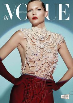 Swarovski Horiscopes For Vogue Germany Model: Karolin Wolter Photography: Lado Alexi Styling: Dennis Blys Beauty: Natalie Franz Vogue Covers, Vogue Magazine Covers, Moda Blog, Love Magazine, Provocateur, Fashion Cover, Women's Fashion, Mode Editorials, Fashion Editorials