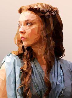 ILLUSTRATION | Margaery - Low Poly on Behance