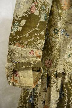 Eighteen century brocade dress. Collection: Royal Pump Room/Harrogate Museums.