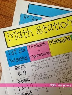 Teaching Blog Round Up: Planning for Stations/Centers/Tubs + FREEBIE