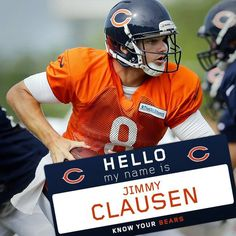 pro line youth chicago bears jimmy clausen team color jersey