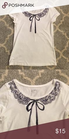 LOFT shirt with bow image Brand new! Never worn! LOFT Tops Tees - Short Sleeve