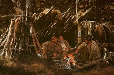 fur trappers camping