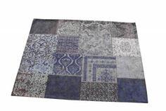 Carpet Patchwork Dark blue nu 239€ 170x240cm  www.gigameubel.nl