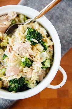 Recipe: Stovetop Tuna Orzo Casserole with Broccoli