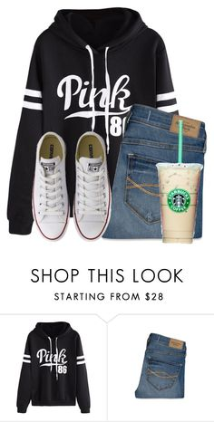 """Simple"" by flroasburn ❤ liked on Polyvore featuring WithChic, Abercrombie & Fitch and Converse"