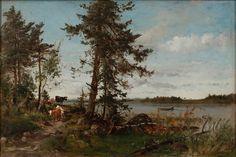 Hjalmar Munsterhjelm Scandinavian Art, Master Art, Landscape, Artist, Concept, Painting, Image, Kunst, Scenery