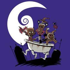 #Disney: The Nightmare Before Christmas / #Nickelodeon: #Aaahh!!! Real Monsters mashup t-shirt.