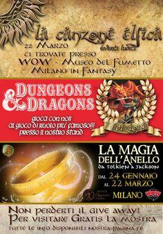 Siamo lieti di annunciare la nostra partecipazione al Milano in Fantasy domenica 22 marzo 2015 presso WOW - Museo del Fumetto di Milano Da non perdere per tutti gli appassionati della Prima Edizione :)