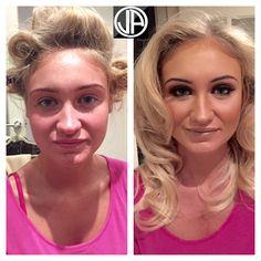 Makeover ....Contouring Makeup Smokey Eyes Individual Eyelashes