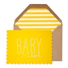 Baby Love Card // whitesmercantile.com