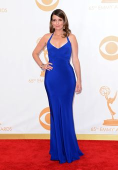 Tina Fey in blue