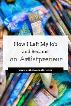 How I Left My Job and Became an Artistpreneur - Arts Job - Ideas of Arts Job - How I Left My Job to Become a Full-Time Artist- How I became an artist solopreneur working artist creative entrepreneur Tips for artistic success Painting & Drawing, Drawing Tips, Drawing Techniques, Artist Painting, Art Paintings, Craft Business, Creative Business, Business Tips, Business Marketing