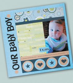 Baby Boy Scrapbook Page