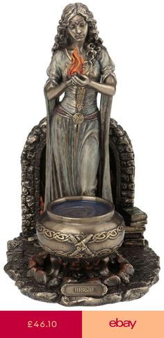 Wicca New Age Alter Statue Offering Prop Celtic Pagan Figure Witchcraft Shrine 1