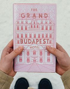 The Grand Budapest Hotel - Book Cover - Wes Anderson #pink #red #white