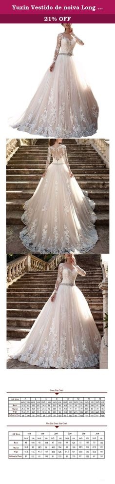 Yuxin Vestido de noiva Long Sleeves Wedding Dress Sheer Back Lace Wedding Gown. All of our dresses are handmade by experienced tailors. Return policy: We couldn't accept your return request if the product issues are caused by yourself such as wrong choice for size or color. If you receive a defective dress or wrong dress (wrong color,wrong style),please contact us within 7 days after you receive the dress. Any other questions, please feel free to contact me through email,i will reply you…