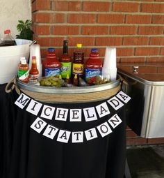 Michelada Bar for the next morning! Mexican Birthday Parties, Mexican Fiesta Party, Fiesta Theme Party, 30th Party, Festa Party, Party Themes, Party Ideas, 21st Birthday, Mexican Fiesta Decorations