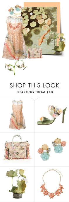 """Lily Pond"" by felicia-mcdonnell ❤ liked on Polyvore featuring RED Valentino, René Caovilla, Diane Von Furstenberg, Miss Selfridge, Pier 1 Imports, Dorothy Perkins, DianeVonFurstenberg, polyvoreeditorial, RedValentino and renecaovilla"