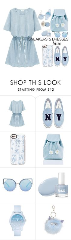 """""""Sneakers and Dresses"""" by nendeayesika ❤ liked on Polyvore featuring Joshua's, Casetify, Sugarbaby, Matthew Williamson, Lacoste and Accessorize"""