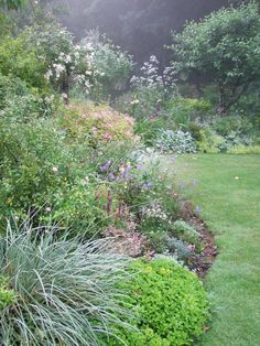 A wild-flower garden has a most appealing sound. One thinks about long tramps in the woods, gathering material, and then of the enjoyable in sprucing up a real for sure wild garden. Organic Gardening Tips, Organic Plants, Organic Horticulture, Garden Borders, Outdoor Landscaping, Country Landscaping, My Secret Garden, Garden Styles, Dream Garden