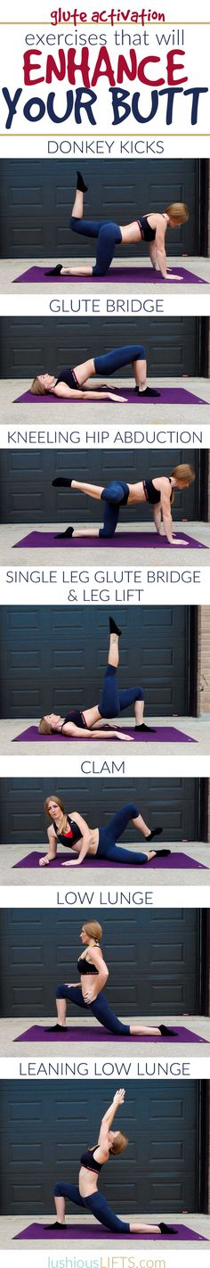 Exercises to Enhance the Buttocks! {Glute Activation to Get Rid of Saggy Desk Job Butt} || lushiousLIFTS.com