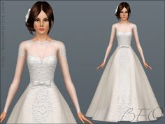 BEO Creations Wedding Dress 01 O Sims 4 Downloads