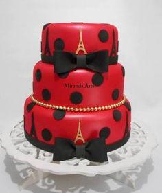 Resultado de imagem para bolos tema Ladybug