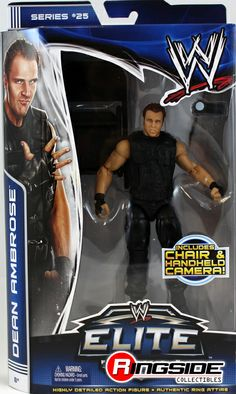 the shield wrestling figures | ... AMBROSE (THE SHIELD) - WWE ELITE 25 MATTEL TOY WRESTLING ACTION FIGURE
