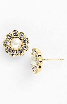 kate spade new york 'park avenue' faux pearl stud earrings available at #Nordstrom
