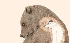 """There was a young Lady of Clare, Who was sadly pursued by a bear; When she found she was tired, She abruptly expired, That unfortunate Lady of Clare.  """"A Book of Nonsense"""" - Edward Lear Ilustration by Gabriella Barouch"""