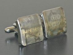 cufflinks made from Ferrari pistons