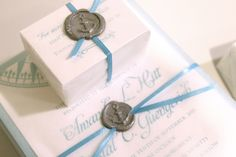 Here is a great example of using Wax Seal stamps for your Nautical Wedding!!