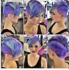 Purple heart!! Love short hair