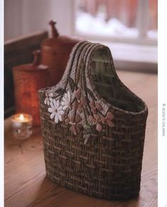 What a great idea for a cane basket