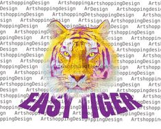 Sublimate design download Easy Tiger LSU Louisiana gift mom | Etsy