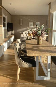 Tablero envejecido con tono roble claro y estructura de hierro lacada en blanco Dining Bench, Furniture, Home Decor, Wood Boards, Solid Wood, Dining Room Furniture, Yurts, Light Oak, Little Cottages