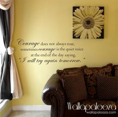 Courage Wall Decal Quote  Inspirational wall by WallapaloozaDecals, $28.00