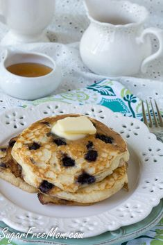 Gluten Free wild blueberry pancakes are perfect for making ahead for busy school mornings!