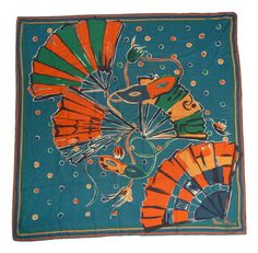Currently at the #Catawiki auctions: Nina Ricci – vintage carnival themed scarf