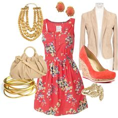 Coral Fun!, created by mreposa on Polyvore