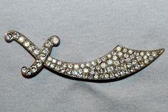 Vintage / Sword / Brooch / Rhinestone / Knife by AmericanHomestead