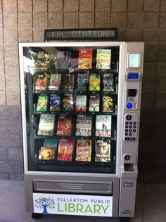 book machine from Fullerton Public Library