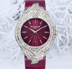 Patek Philippe Diamond And White Gold Calatrava Watch.......i want you so badly!