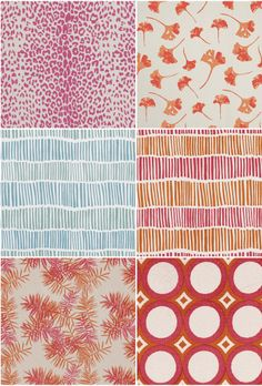 I am newly obsessed with Lula Fabrics , a boutique South African textile company that produces super fun bright and bold prints on linen and.