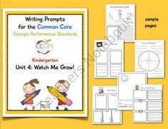 Free: Very resourceful writing prompts associated with Kinder books.  Smart-Charts Shop - | Teachers Notebook